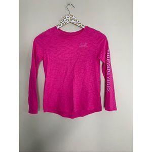 Vineyard Vines Girls Pink Longsleeve | M